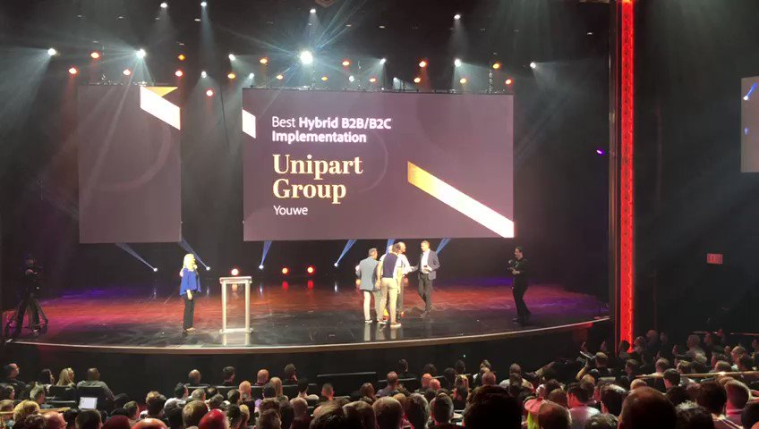 YouWe_NL: The moment we won! Read about the winning case here: https://t.co/3cYyyI0DLunn#Imagine2019 #MagentoImagine https://t.co/0y723D0cpN