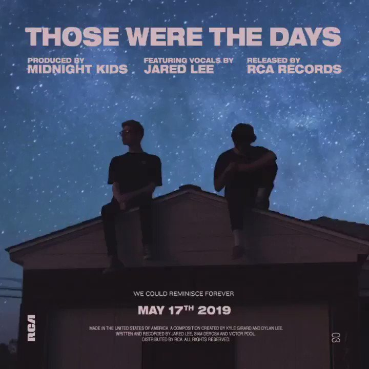 RT @usmidnightkids: Those Were The Days feat. @jaredleemusic is out now everywhere! https://t.co/2nZn2otMyZ https://t.co/bMaiQHIjjN