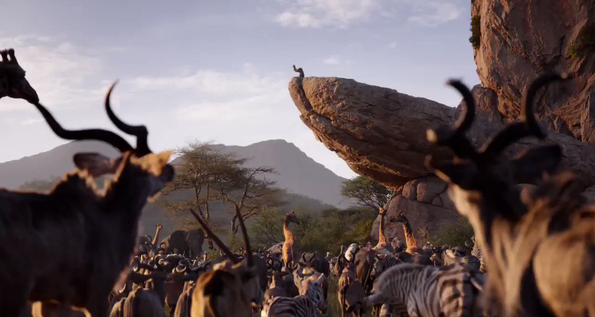 RT @Jon_Favreau: New TV spot for #TheLionKing ???? ???? https://t.co/9jT7TQLmnP