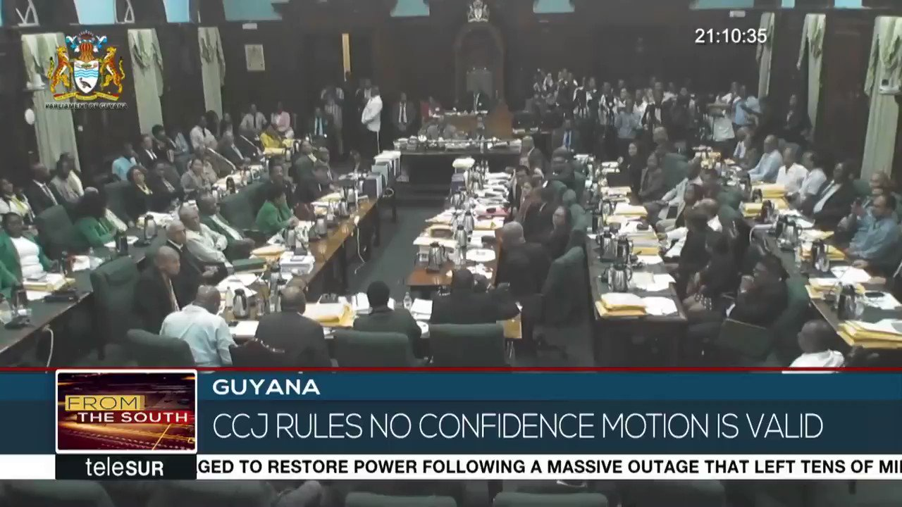 The Caribbean Court of Justice rules that December's no-confidence motion was validly passed in Guyana. @teleSURenglish https://t.co/SxEzdpzbkE