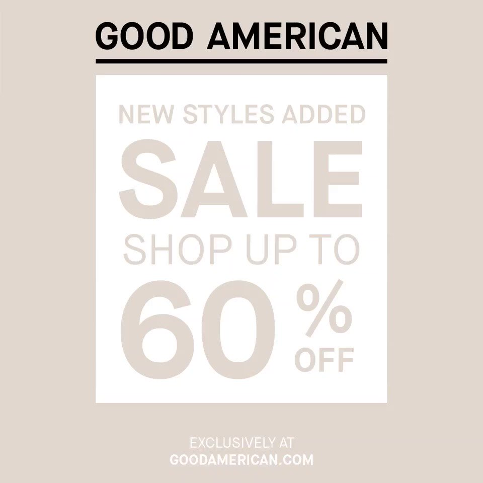 New styles added to our @goodamerican half-yearly sale! https://t.co/oa5luvEGub https://t.co/pbNQIBbZzG