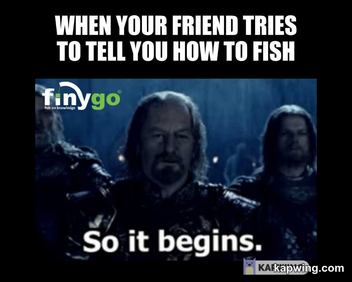 We've all got that one friend that always knows best... #<b>Fishinglife</b> #carpfishing #kapwing ht