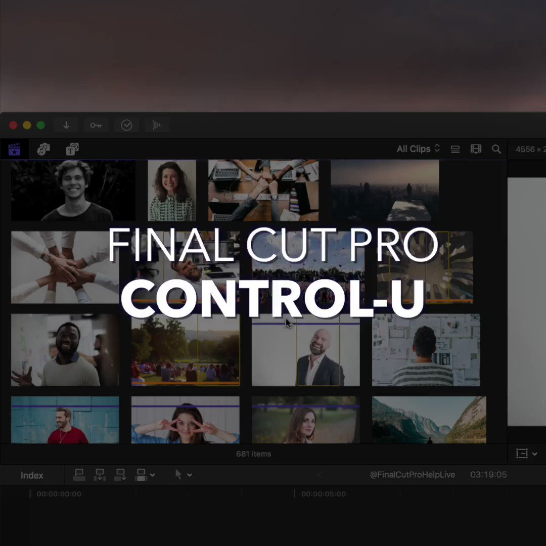 Control-U  | Show Unused Media Only | Control what media is displayed in the Final Cut Pro X browser by using this shortcut to show only unused media. https://t.co/jToYgXvaw2