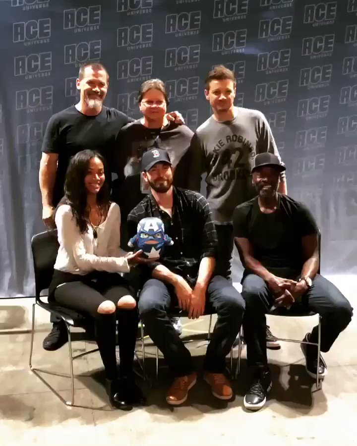 Whatever it takes with this crew , so many takes @zoesaldana @ChrisEvans @DonCheadle #joshbrolin https://t.co/ip4AtNon2M