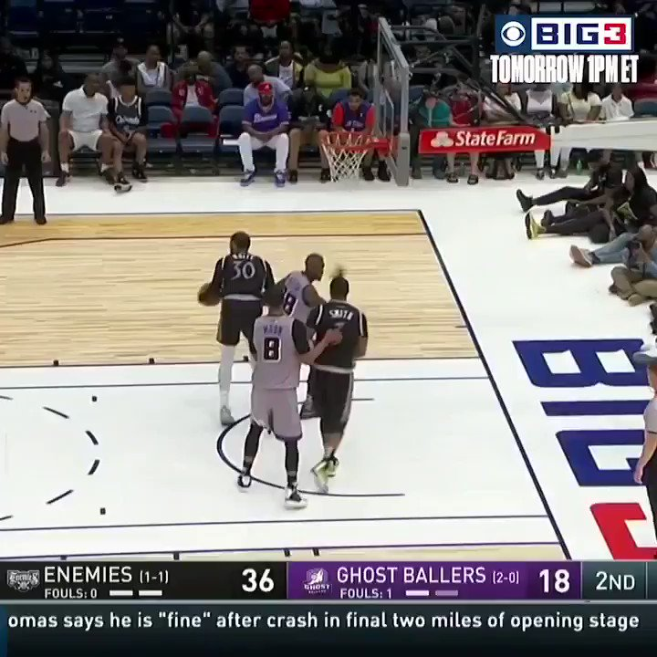 RT @BR_NBA: Gilbert Arenas catches fire from deep at the BIG 3 ????  (via @thebig3) https://t.co/G3vADfO40c