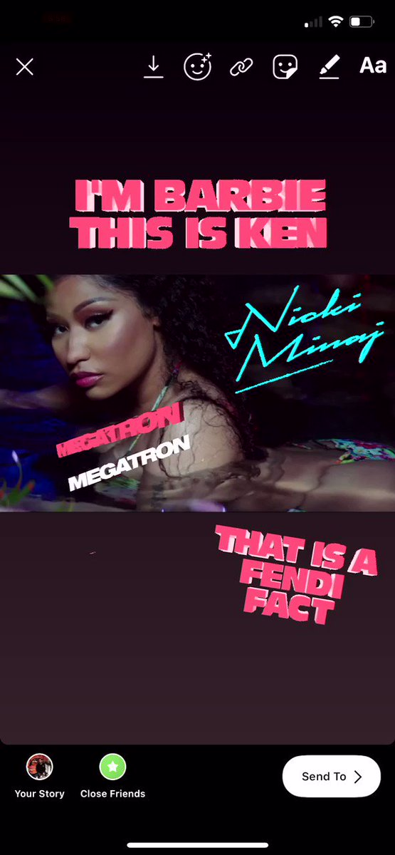 RT @NLiddle16: .@NICKIMINAJ now has #MEGATRON gifs available to use on your instagram stories! Check em out! https://t.co/IETv7OZWD9