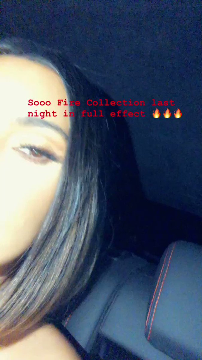Last night I wore the Sooo Fire Collection ???? https://t.co/5vXRm6HMpW