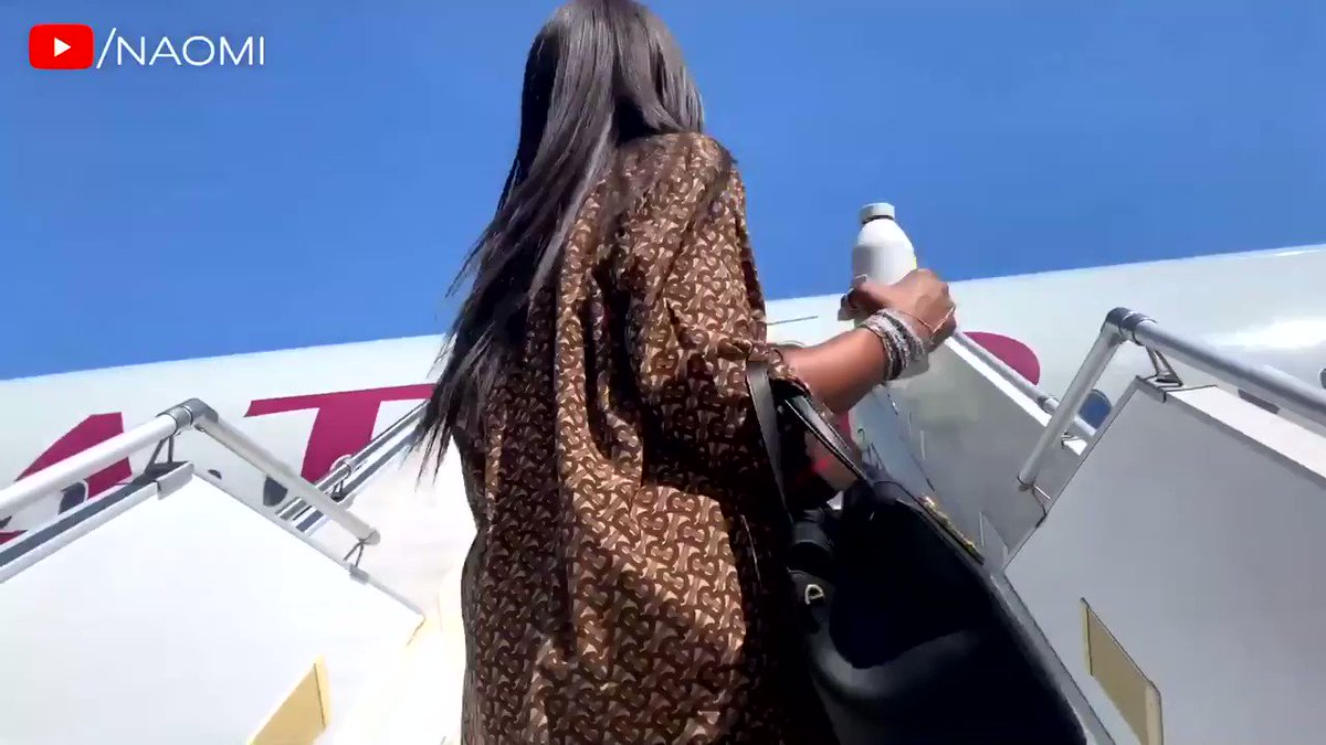 RT @kurtisrai: Naomi does her airport/airplane routine, the sanitation of it all I stan https://t.co/NKfTO7ZTXA