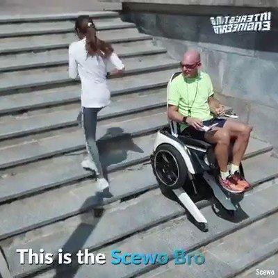 This futuristic wheelchair looks like something professor Xavier would use https://t.co/R3o4xC60Cz