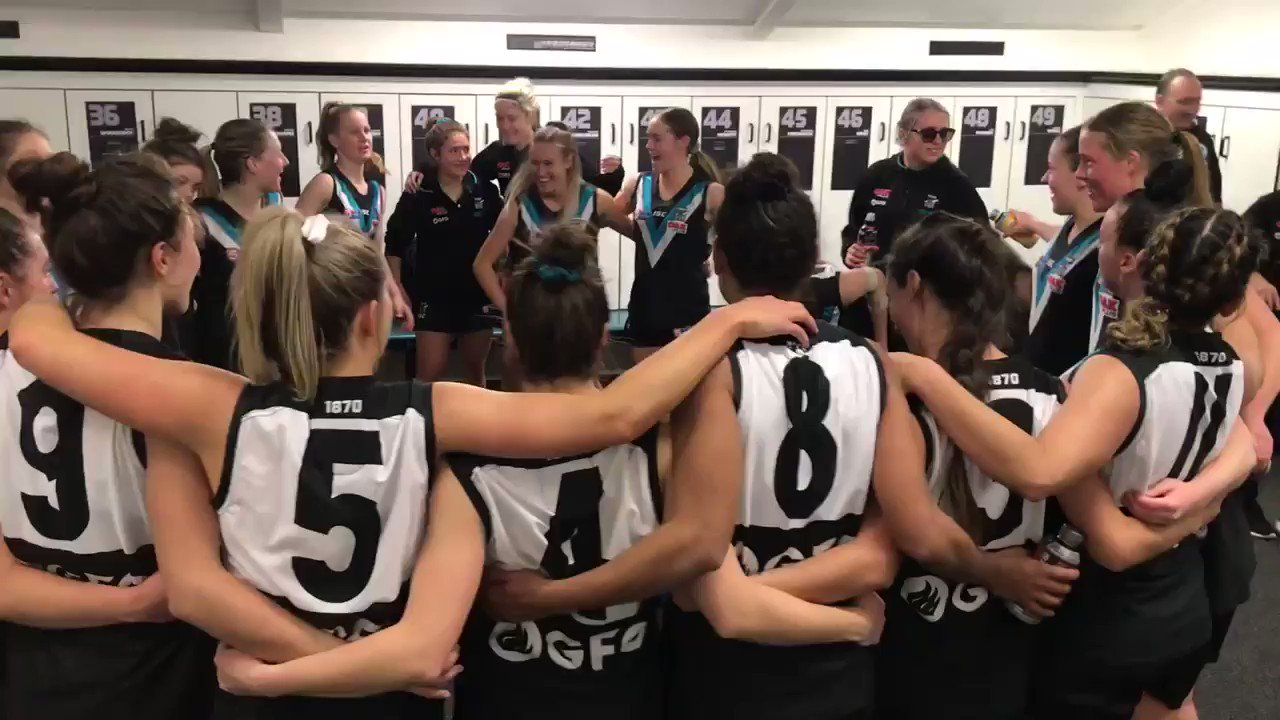 Fantastic sounds in the rooms. Well done to the Power women, defeating the Crows by 36 points ⚡️⚡️⚡️ #sanfl #weareportadelaide https://t.co/sIgtD4Oeww