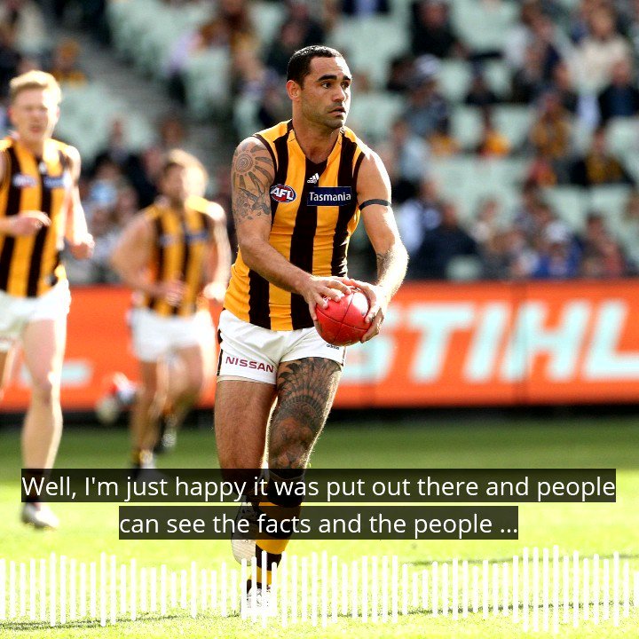 """It hit people between the eyes that needed to be hit."" Shaun Burgoyne said he hopes the Adam Goodes documentary has been positive and hopes the football industry learns from it. @HawthornFC #AFL #AFLCatsHawks https://t.co/yshzqtv7Sm"