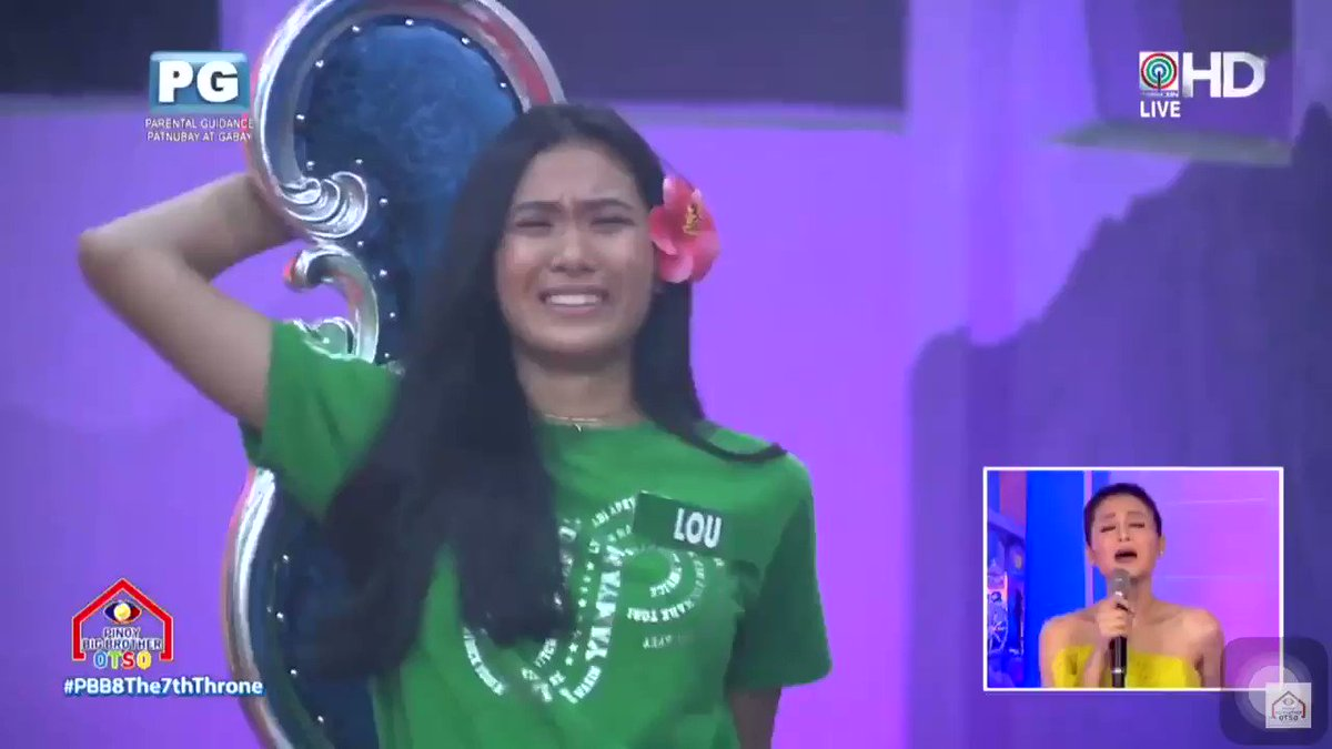 Lou's message to all her supporters after getting the 7th throne! 💚  BB LOU | BB ANDRE #PBB8The7thThrone @louyanong @itsdredesu