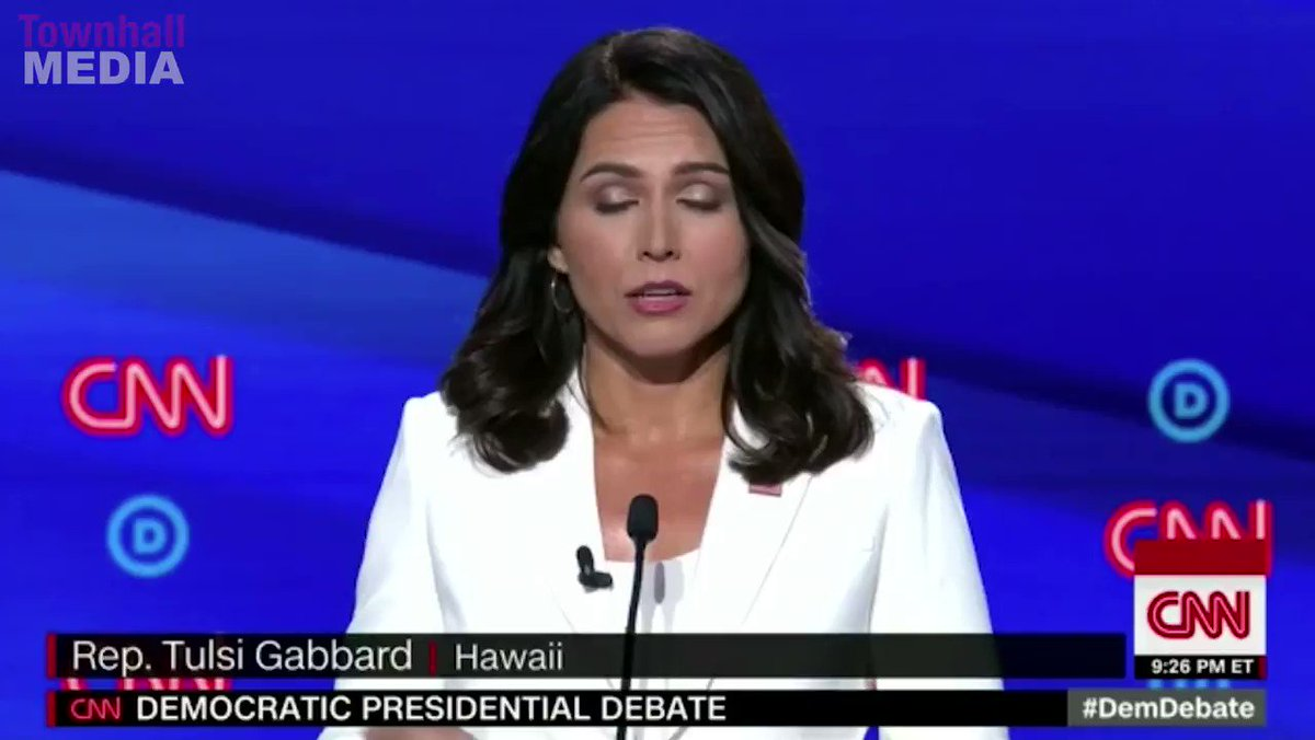 Wait a minute... how is Kamala Harris Joe Biden's VP when she was laid to rest by Tulsi Gabbard in this debate???  🤔🤔🤔