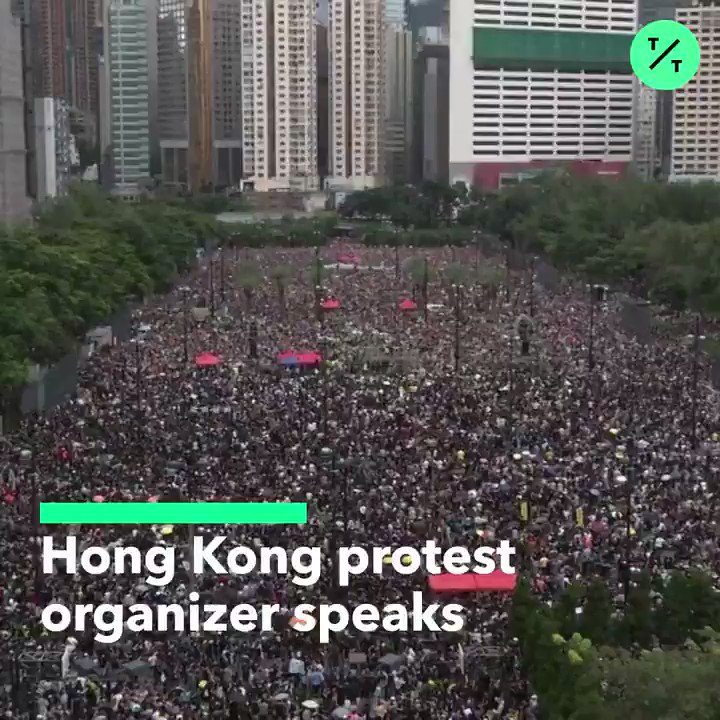 "@business ""Hong Kong people will soldier on.""  Protest organizer Bonnie Leung says protesters won't stop until their 5 demands are responded to by the government #HongKongProtests #香港 https://t.co/IYOQRdskbV"