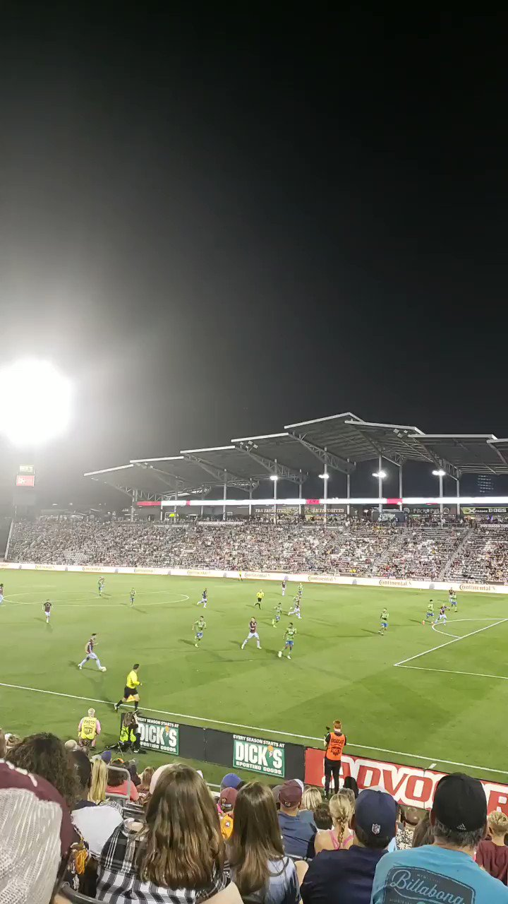 The Colorado Rapids vs. Seattle Sounders at Dick's Sporting Goods Park. Rapids currently up 1-0.   #COLSEA #Rapids96 | @ColoradoRapids @SoundersFC https://t.co/9I2h81KvhF
