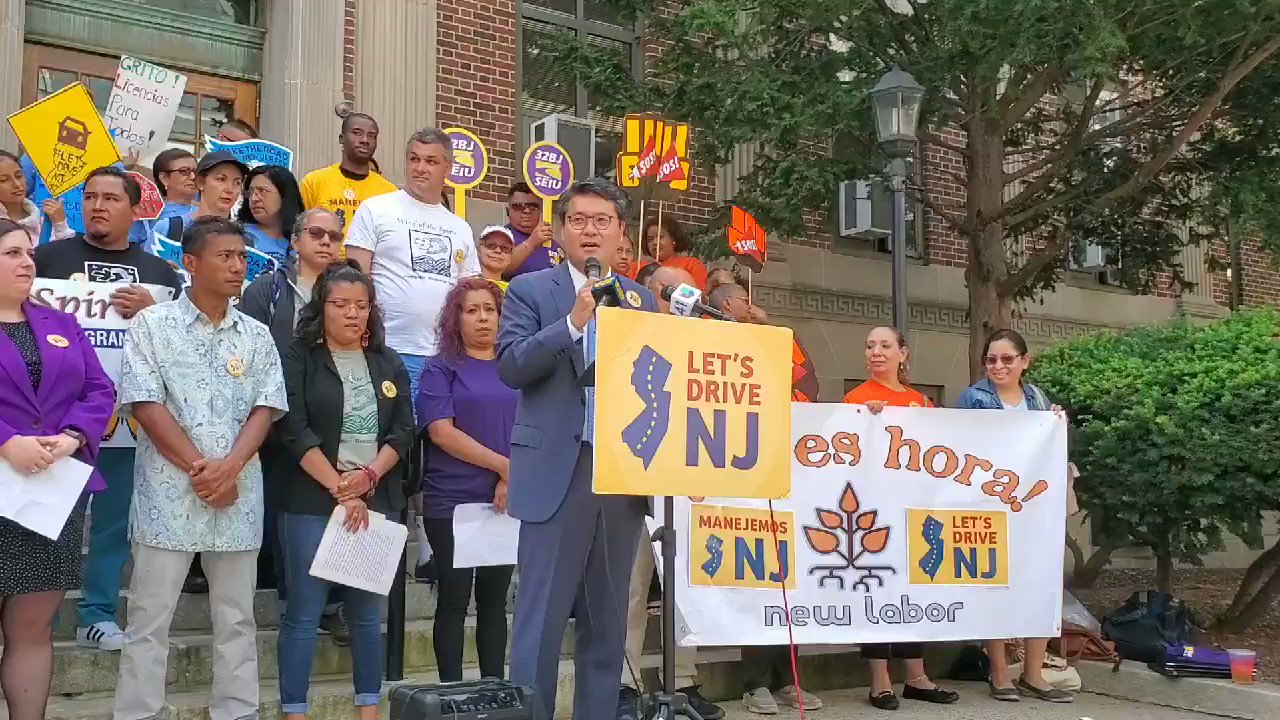 """Jun Choi with @JerseyPromise, shares his support for expanding access to driver's licenses. """"This is common sense policy"""" #DriversLicensesNow https://t.co/Qv7fUg7IKx"""
