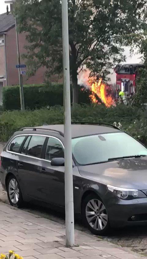 Ingezonden video van de brand vanochtend aan #tRak.