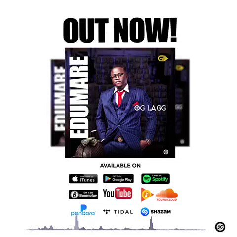 Now playing Edumare by Oglagg @LaggOg you should update your playlist with this banger Quickly enter  and get it.  Listen to the snippet: