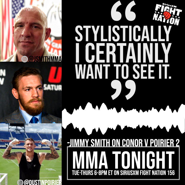 🔊 @jimmysmithmma has a certain criteria for #ConorMcGregor's next fight. Does he think #Poirier v #McGregor 2 checks enough boxes? w/@RyanMcKinnell #UFC  👊⬇️👊⬇️👊⬇️👊⬇️👊⬇️👊⬇️👊⬇️👊⬇️👊⬇️👊⬇️👊⬇️👊⬇️ https://t.co/UeRVo5MUyL
