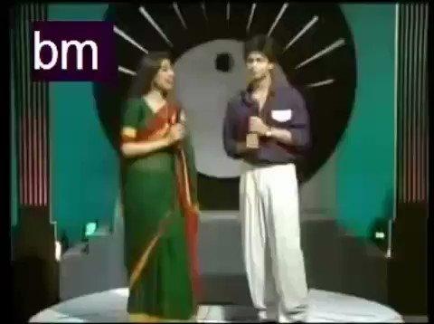 #ShahrukhKhan as a tv anchor for a singing programs of #Doordarshan.   #srk #shahrukh @memorable_90s