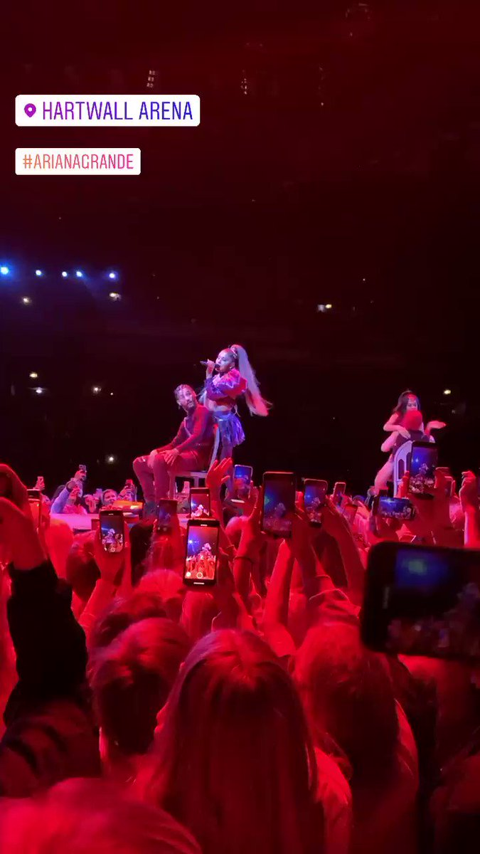 VIDEO: Ariana performing 'Break Up With Your Girlfriend, I'm Bored' tonight at #SWTHelsinki
