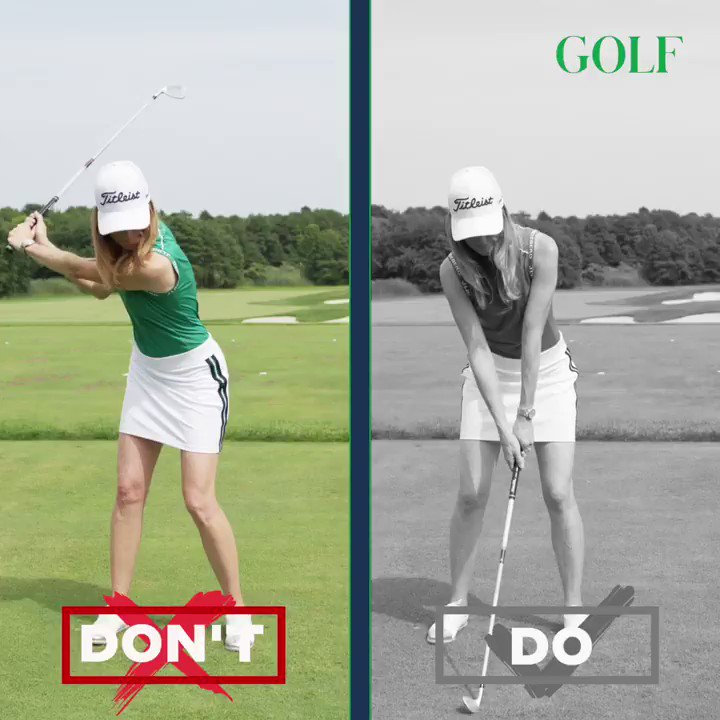 Collapsing your lead arm on your follow-through will rob you of power.   Instead, extend your arms toward the target, keeping your lead arm straight for a full, powerful release. https://t.co/B9YdHY5h8d