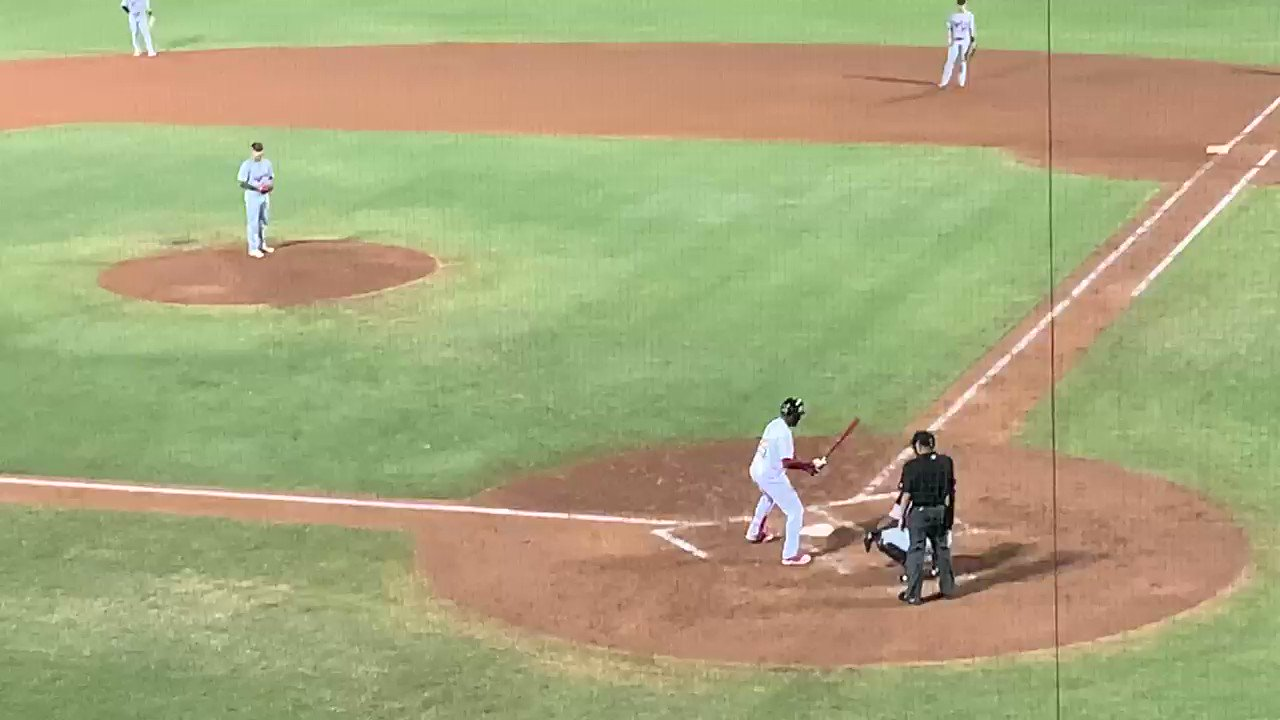 Hard single back through the box for #Angels prospect Jo Adell https://t.co/0oHqg2IGai