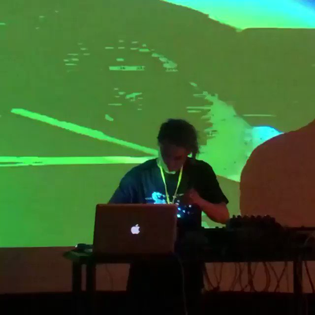 """Reposting @techillusionist: ... """"@d0nxyz in the house #codame Friday night opening performance, Interactive Visuals by @tedpetsas"""" https://t.co/UeO2z4FDNJ"""