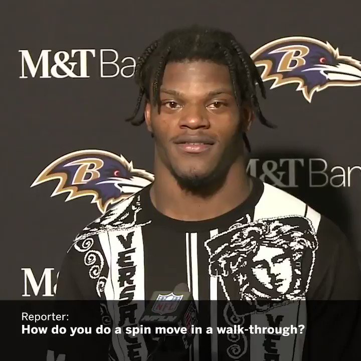 Lamar said he practiced his spin move in slow motion during the Ravens walk-through the day before game. https://t.co/4U8F4l1zv3