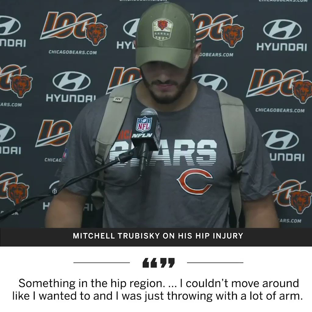 Mitchell Trubisky explains how his hip injury affected his play.