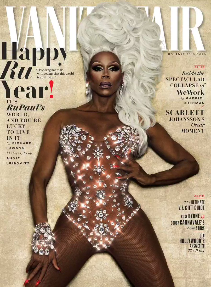 Mother has arrived: @RuPaul is our Holiday cover star! The glamazon drag queen, reality-TV star, and Zen-like guru speaks to @rilaws about lifting himself up by his knee-high boots—and how he transformed mainstream culture along the way: