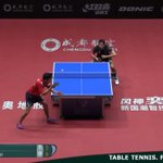 RT @ittfworld: 👉 Over on table 2....What do you think of this point?  #ITTFWorldCup #Chengdu2019 🏆 https://t.co/KqdMvMTLp4