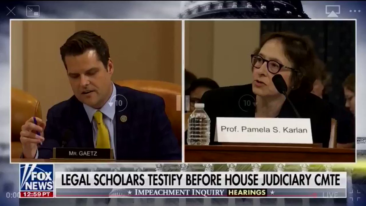 Thank you @RepMattGaetz for holding Karlan to account for her despicable comments about @realDonaldTrump's 13 year old son.  Democrats need to do the right thing and condemn Karlan's comments.