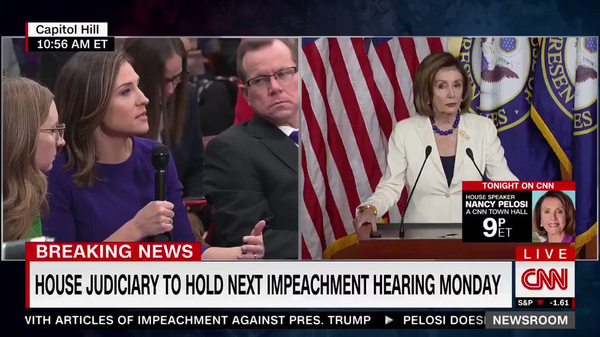 "Speaker Pelosi tacitly admitted 2 things here:  1) Asked about key moments of the impeachment ""investigation,"" she brings up polling  2) When asked RE: the speed of impeachment, she says ""Mueller was appointed 2.5 years ago""   This is all about politics, and has been since 2017"