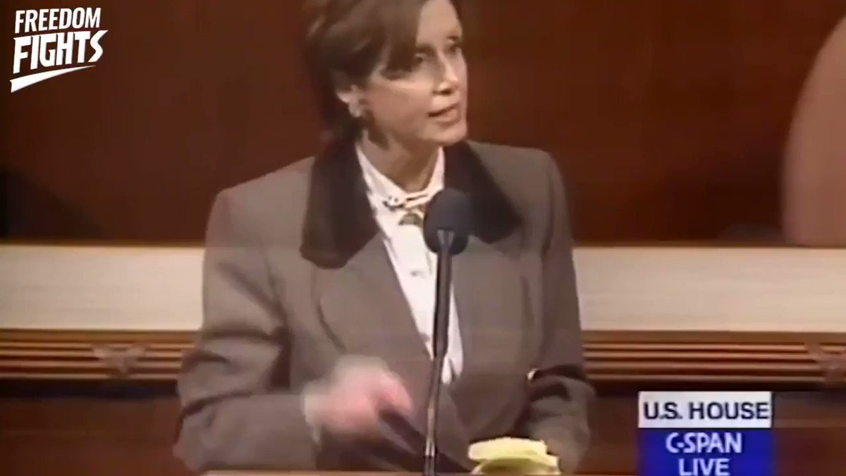 """Nancy Pelosi is a Hypocrite.  She claimed that """"as a Catholic"""" she finds the word """"Hate"""" disgusting  However, she had no problem accusing Republicans of Impeaching Clinton out of Hatred back in 1998."""