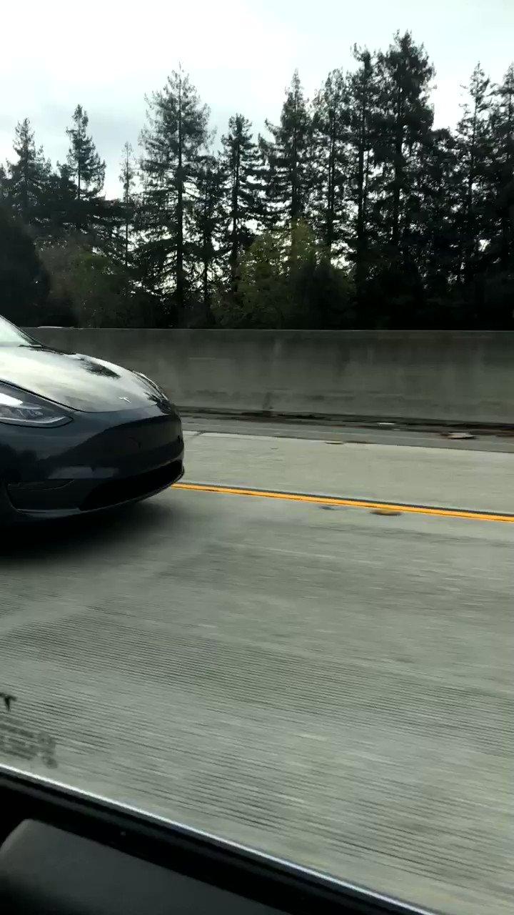 .@Tesla Model Y spotted in the wild! https://t.co/eG7prphond