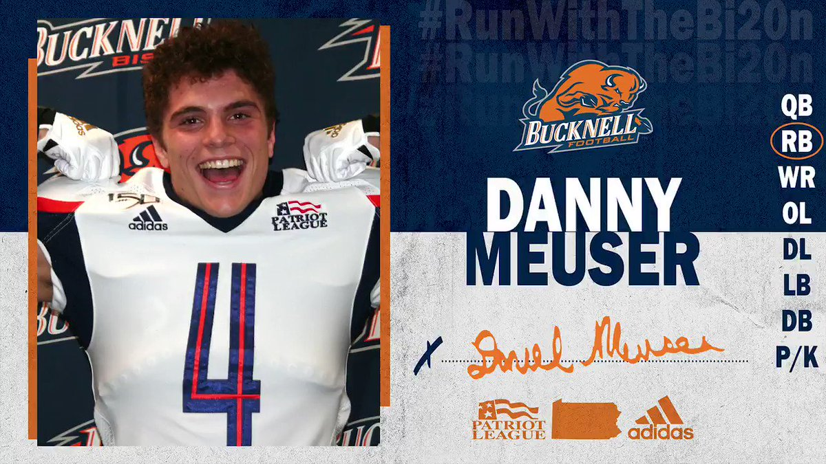 A Bruiser Named Meuser. 💪  RB Danny Meuser (@dmeuser4109) has decided to #RunWithTheBI20N!  #ACT | #rayBucknell