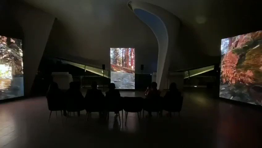 Installation shot from Catharsis @SerpentineUK running right now. It's moving to see a diverse group of people and followers of BTS enter, experience the work calmly, and share spaces. #CONNECT_BTS  #serpentinedigital  #jakobkudsksteensen @SerpentineUK  @bts_bighit