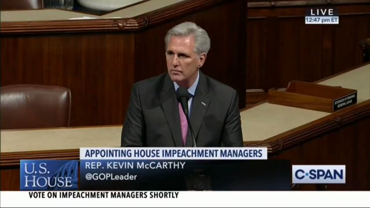 """Rep. McCarthy: """"no greater contrast"""" with impeachment than President Trump's successes and achievements"""