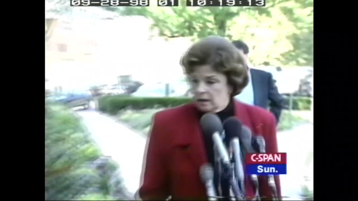 """FLASHBACK: In 1998, Feinstein said impeachment hurts U.S., should finish trial """"as quickly as possible"""""""