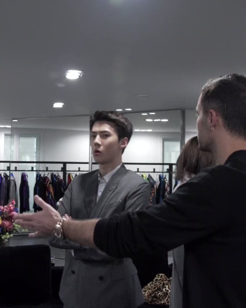 - An inside look at the Fitting Session with #SEHUN before the #Berluti Winter 2020 Show by Kris Van Assche -  #세훈 #엑소 #吴世勋 #EXO