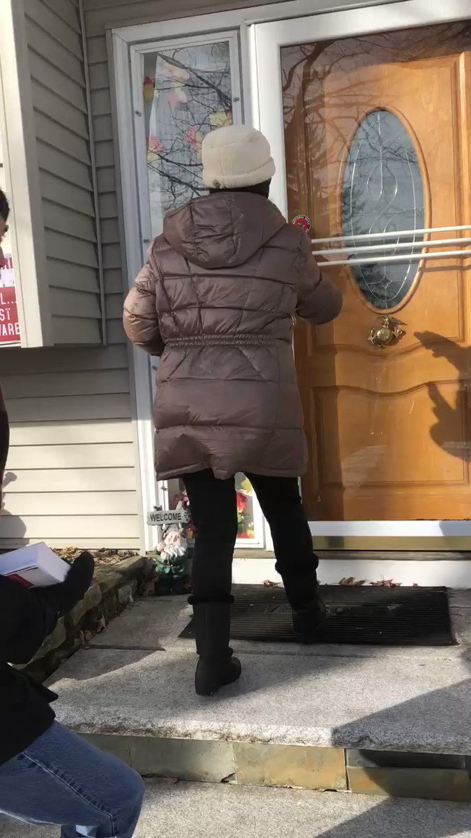 It's cold & snowy but that didn't stop Trump Victory this National Day of Action. Our volunteer Lilli hit a huge milestone of our 1,000,000th door knocked across the country! Volunteers like Lilli are the reason we will re-elect @realdonaldtrump in 2020! #LeadRight #KAG2020 #fitn