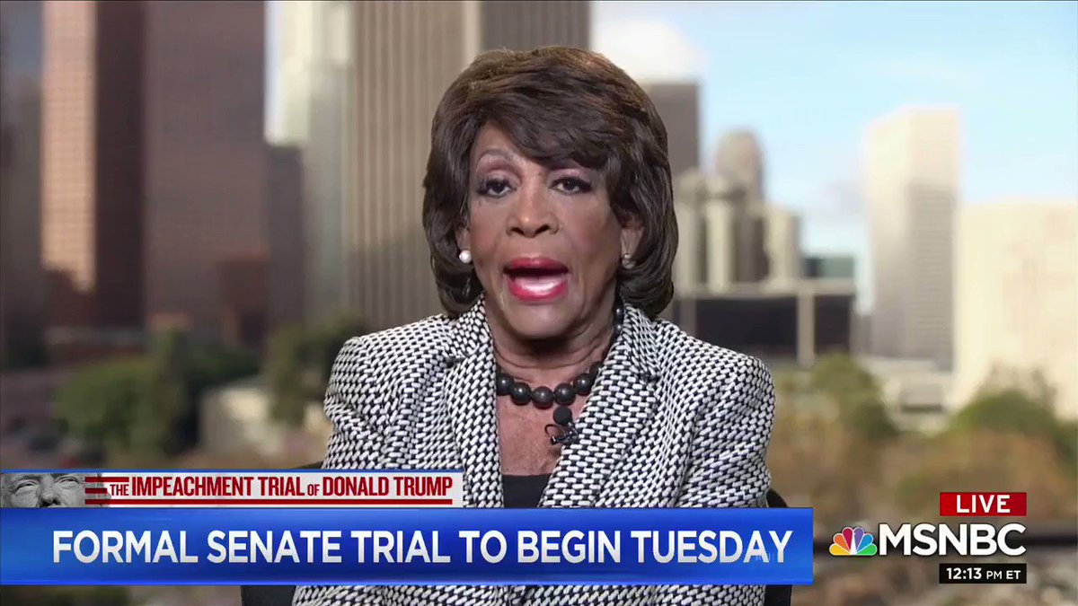 """Democrat Rep. Maxine Waters: there may be more """"impeachment activity,"""" """"we will not stop"""""""