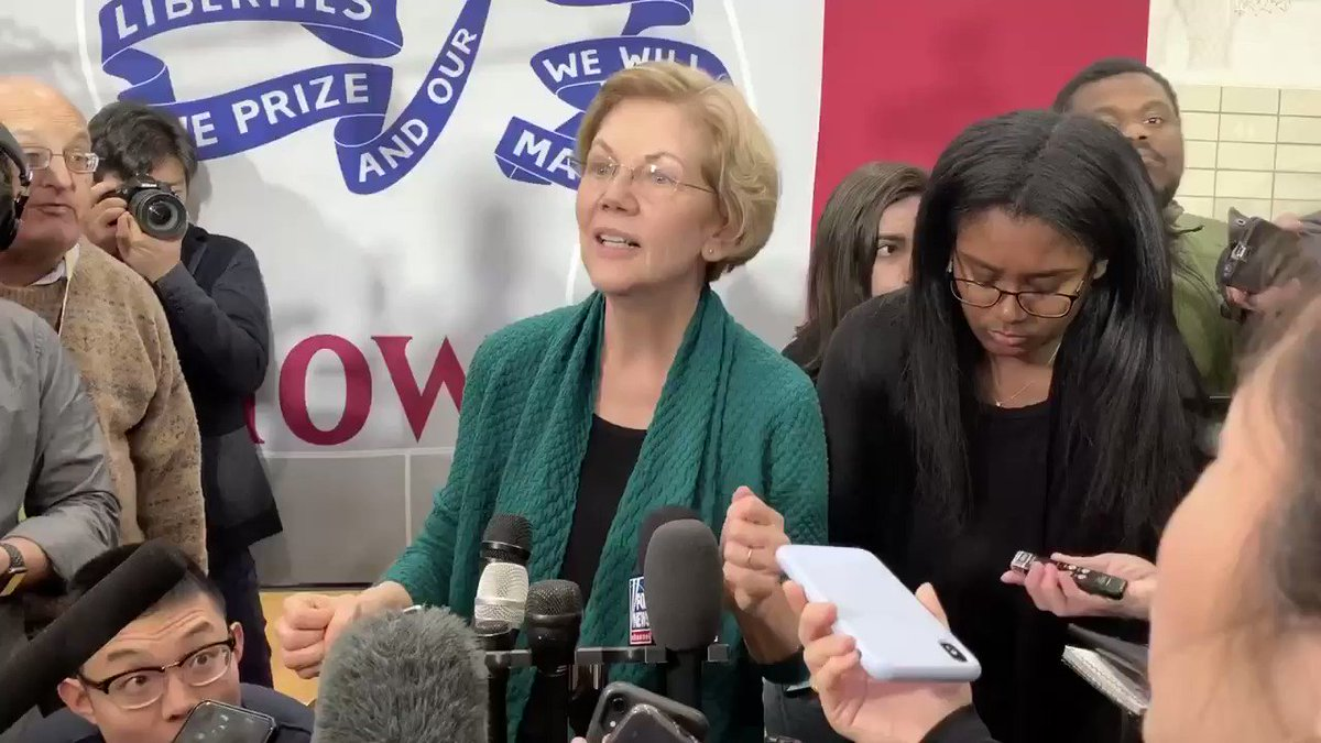 ".@ewarren:  ""How could the American people want someone who lies to them?"""