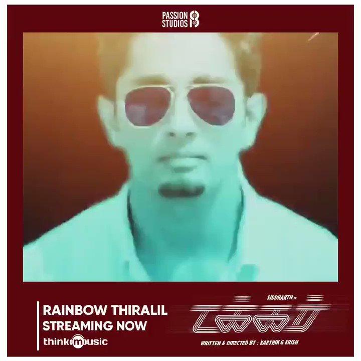 Check Out #RainbowThiralil From #Takkar   👉   Vocals by #STR & @andrea_jeremiah   @Actor_Siddharth @iYogiBabu @itsdivyanshak @Karthik_G_Krish @nivaskprasanna @RjVigneshkanth @editorgowtham @PassionStudios_  @thinkmusicindia @CtcMediaboy