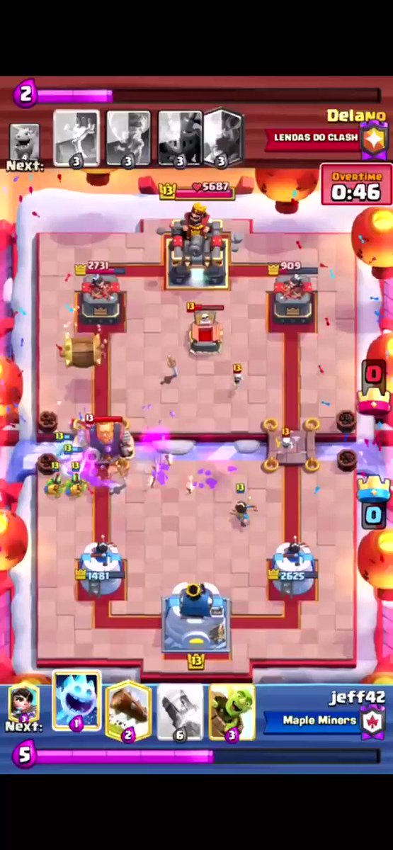 Sit back, relax, and enjoy the best ending in @ClashRoyale history?! No hyperbole!   📣 Shoutout to u/jiffyagin for the amazing clip!