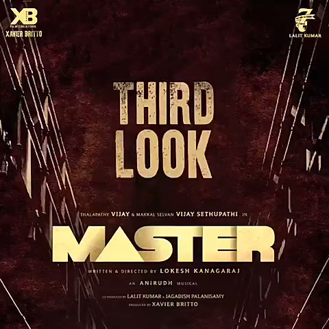 So close yet so far. Stay tuned and you'll not be disappointed 😉🔥 1 hour is all you've got to wait for!   #Master #MasterThirdLook @actorvijay @VijaySethuOffl @Dir_Lokesh @anirudhofficial @jagadishbliss @Lalit_sevenscr @imKBRshanthnu @MalavikaM_ @andrea_jeremiah @gopiprasannaa