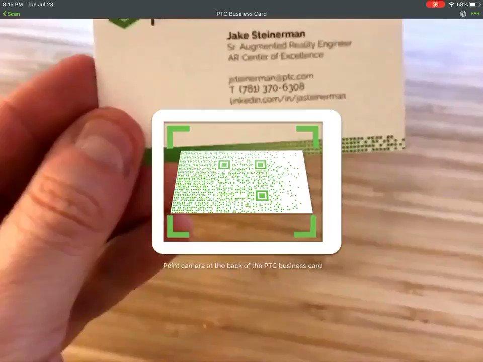 #AR business cards   MT @MikeQuindazzi| @jasteinerman #AugmentedReality #VR #IoT #UX #UI #FutureofWork #AI #Digitaltransformation #tech #EmergingTech @digital #MixedReality  @MargaretSiegien @JGrobicki @PawlowskiMario @Paula_Piccard @mvollmer1 _ @ShiCooks