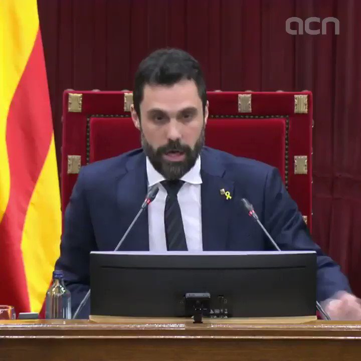 📽️ | Parliament speaker Roger Torrent says he cannot count President Torra's vote  📝 | Read more: Major clash between government partners as president stripped of MP status https://t.co/eNuyh9Vc24