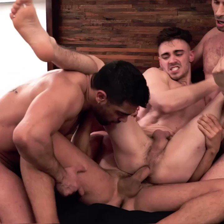 Hot Gay Porn Star Asher Hawk Gang-Banged Bareback By Michael Lucas, Rafael Carreras & Wagner Vittoria  👉🏼